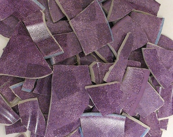 Mosaic Tiles- Purple plates hand cut