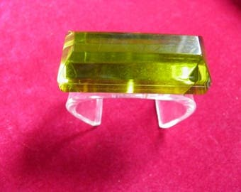 Rare French Bold Lucite Cuff Bracelet, Chartruese, Old Hollywood Glam.