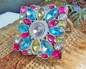 Multi Colored, Square, Belt Buckles, Colored Glass, Belt Accessory, Sparkly Accessories, Sparkly Jewelry, Glitter Accessories, Rhinestones