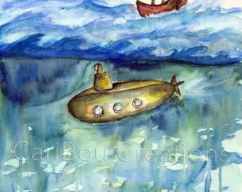 ORIGINAL Watercolor: Between You and Me