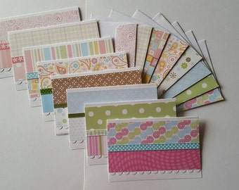 CLEARANCE Blank Note cards >> set of 8 Note Cards, Blank Note Cards, Stationary Set, Card Set