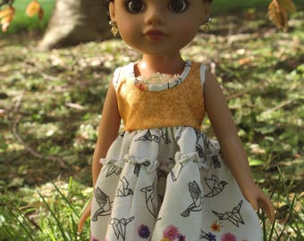 hearts for hearts doll dress: origami