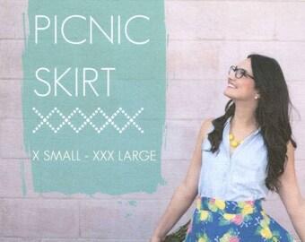 Sew Caroline - Picnic Skirt Pattern (Paper)