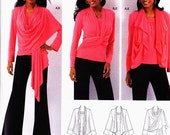 """ON SALE NOW Pattern Simplicity 2603 Wrap Cardi """"Wear it your way"""" with Cami for stretch knits only uncut"""