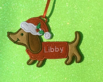 Personalized Dachshund Ornament or Gift Tag