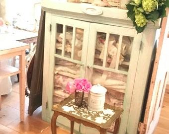 Vintage Italian florentine table cottage romantic vintage shabby chic prairie