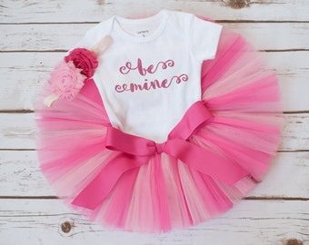 """First Valentines Day outfit """"Anita"""" be mine tutu set baby girl valentines outfit valentines outfit girl valentines day tutu outfit toddler"""
