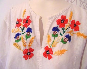 CLEARANCE Dress ,  Folk embroidery Dress , Woodstock Dress , Festival Flower Dress , Bohemian Dress , Urban embroidery dress