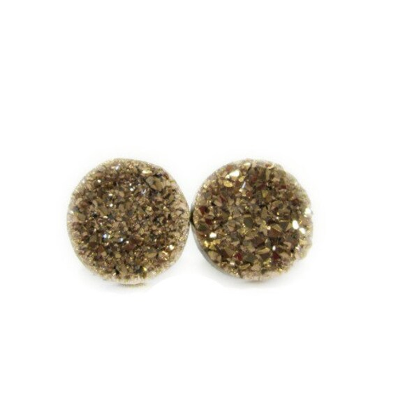 rose gold earrings, bridesmaid earrings rose gold, rose gold druzy earrings, bridesmaid earring, bridesmaid jewelry, druzy studs, 12 mm