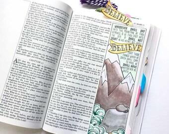 Bible Journaling Bible Verse Art Bible Verse Print great for faith journals Art Journal Move Mountain Sea Mark 11:23