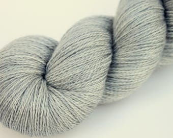 "Kettle Dyed Lace Yarn, BFL and Silk Lace Weight, in ""Morning Mist"""