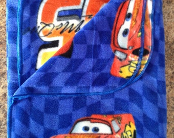 Cars Lightning McQueen blue Polar fleece blanket, Cars fleece blanket, lightning McQueen, blue fleece boy blanket