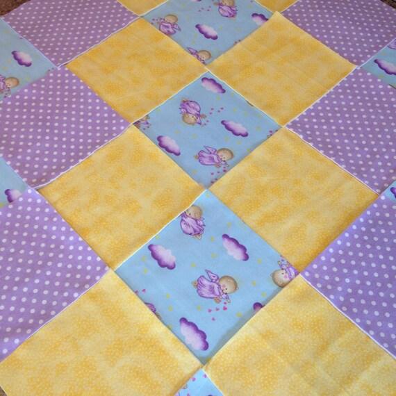 pre cut Rag quilt kit teddy bear angel 75 squares 3 layers : pre cut flannel rag quilt kits - Adamdwight.com