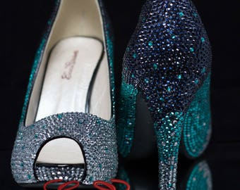 Luxury Crystal Ombre Custom Heels