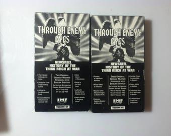 Lot of 2 THROUGH ENEMY EYES Vol. 57 an 81 (Vhs)