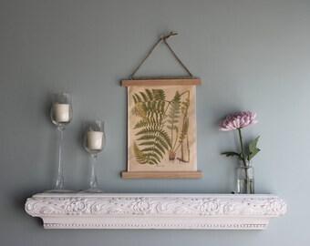 Botanical wall art, Hanging frame canvas fern print