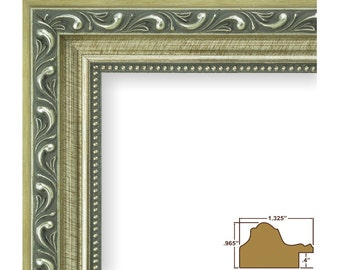 "Craig Frames, 8x10 Inch Antique Silver Picture Frame, Ancien 1.25"" Wide (66610810)"