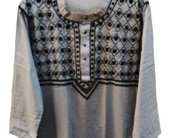 summer shirts, viking clothing,salwar kameez,men kimono,cotton caftan,embroidered shirt,man kurta, plus size clothing, 5 seconds of summer