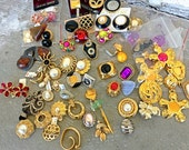 Single runway couture earrings 1980s lot Dior St John Yosca French more