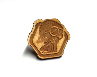 Overwatch Zenyatta Pin | Laser Cut Jewelry | Wood Accessories