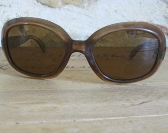 60s sunglasses - oversize retro French sunglasses with brown lenses and frames