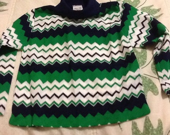 NEW childs long sleeve shirt M 4-5 Blue and green