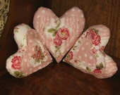 Raggy Hearts Shelf Sitter, Ornies, Small Pillows, Bowl Fillers Pattern Digital Download by Sew Practical, Mom and Pop Craft