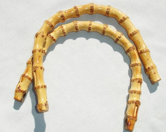 Bamboo Handbag Handles - Two Handles