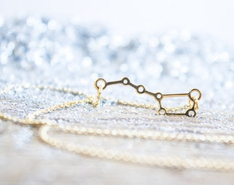 Ursa Major necklace. Cosmos jewelry. Constellation necklace. Galaxy jewelry. 18kt Gold Filled