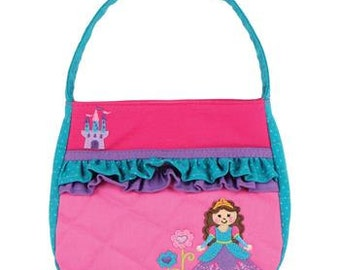 Personalized Stephen Joseph Quilted Princess Ruffle Purse with FREE Embroidery