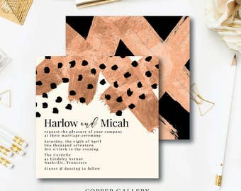 Copper Gallery Wedding Invitations