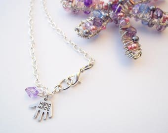 Wire wrapped dragonfly necklace