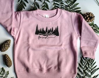 Toddler Sweatshirt ~ Hello Forest