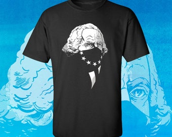 GEORGE WASHINGTON Original Gangsta - Men's Fitted Graphic T-Shirt by Rob Ozborne