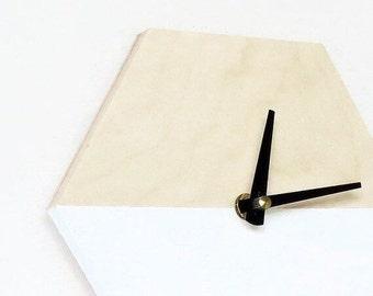 Modern Wall Clock, Trending Decor, Geometric Wall Art,  Minimalist Clock, Small Wall Clock,  Home Decor, Home and Living, Wall Clock
