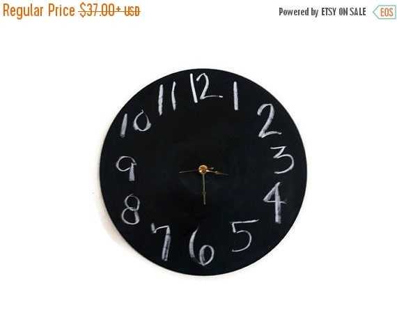 Wedding Gift Clock: Chalkboard Clock Decor And Housewares Wedding Gift By