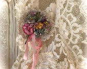 Vintage French Bouquet Pin