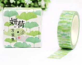 Lotus Leaf Washi Tape Masking Tape Planner Stickers Scrapbooking Stickers