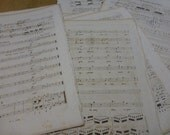 Reserved For LC, Music Sheets, Incredibly Old,  x 20 Pages For Craft work. French, Circa 1830
