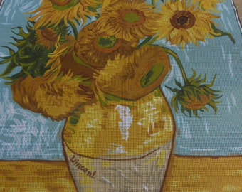 Van Gogh, Sunflowers, Large Printed French Tapestry Canvas, By Royal Paris.