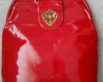 RESERVED On Layaway Marilyn Vintage 1960's Ingber Lipstick Red Patent Handbag Purse