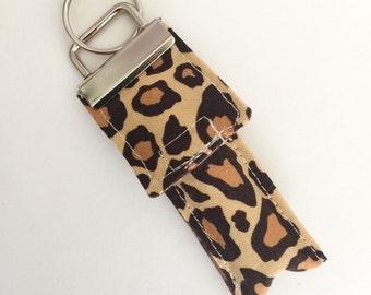 Keychain Chapstick Holder in Cheetah
