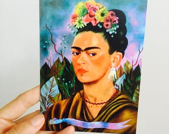 A Lartte made Greeting Card - Frida Kahlo