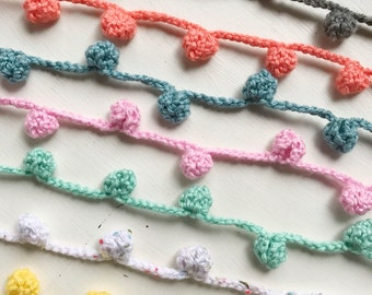 Colorful Crochet Knots/ Cluster/Garland/ Colorful Crochet Knots Garland