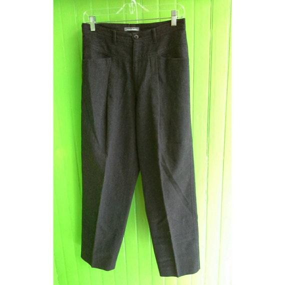 Rare Vintage 1980s Issey Miyake Men Structured  Grey Wool Pants Small Unisex Japan