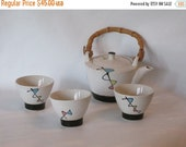 20% Off Vintage Mid Century Modern Tea Set With Bamboo Handle. Beautiful Condition