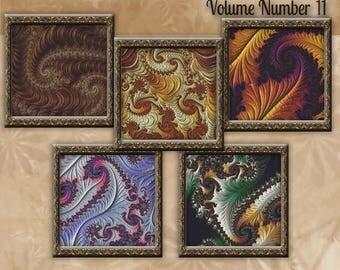 Counted Cross Stitch Designs - Fractal Cross Stitch Patterns Volume 11 - Five Beautiful Charts - Instant Download PdF - StitchX Best Seller