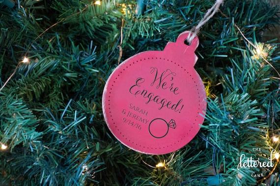 Engaged Christmas Ornament, First Christmas Engaged, Engagement Gift, Newly engaged Christmas