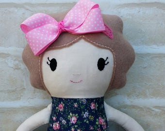 REDUCED Handmade Doll Softie Girl Present Birthday Dolly