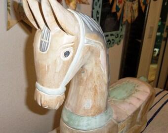 Large Vintage wooden horse